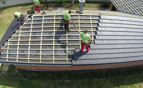 Realizacia sriech rodinnych domov vo Zvoncine natacanie s dronom